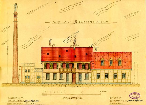 1911, Südliche Längenansicht
