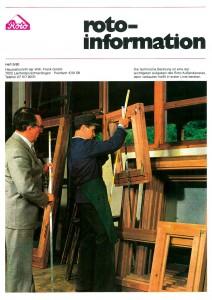 1980. Paul Burkhardt auf dem Titelblatt der ROTO Hauszeitschrift