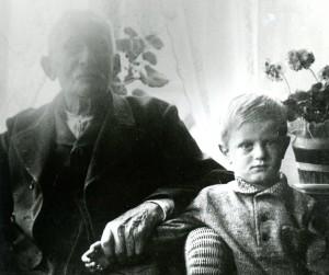 Johann Jakob Burkhardt jr. und sein Enkel Karl Burkhardt.